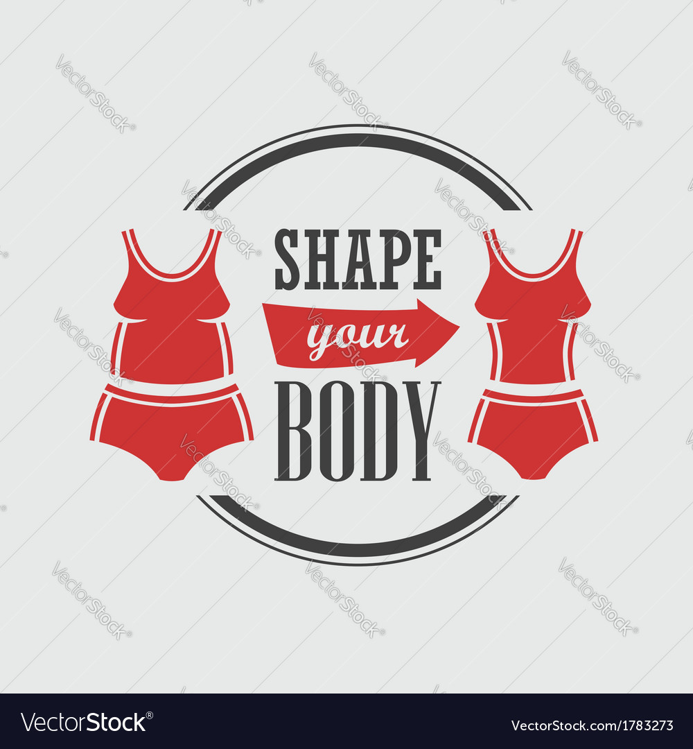 Shape your body vector | Price: 1 Credit (USD $1)