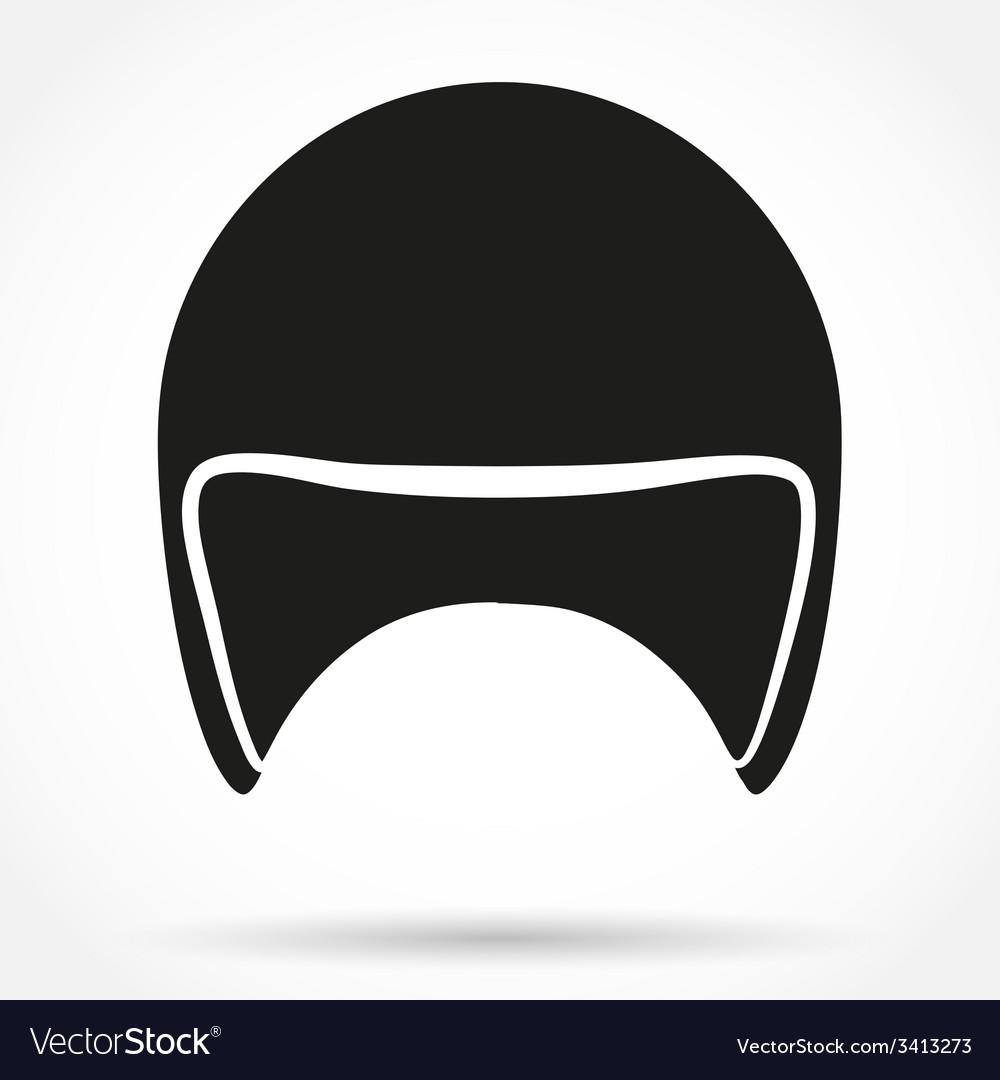 Silhouette symbol of motorbike classic helmet vector | Price: 1 Credit (USD $1)