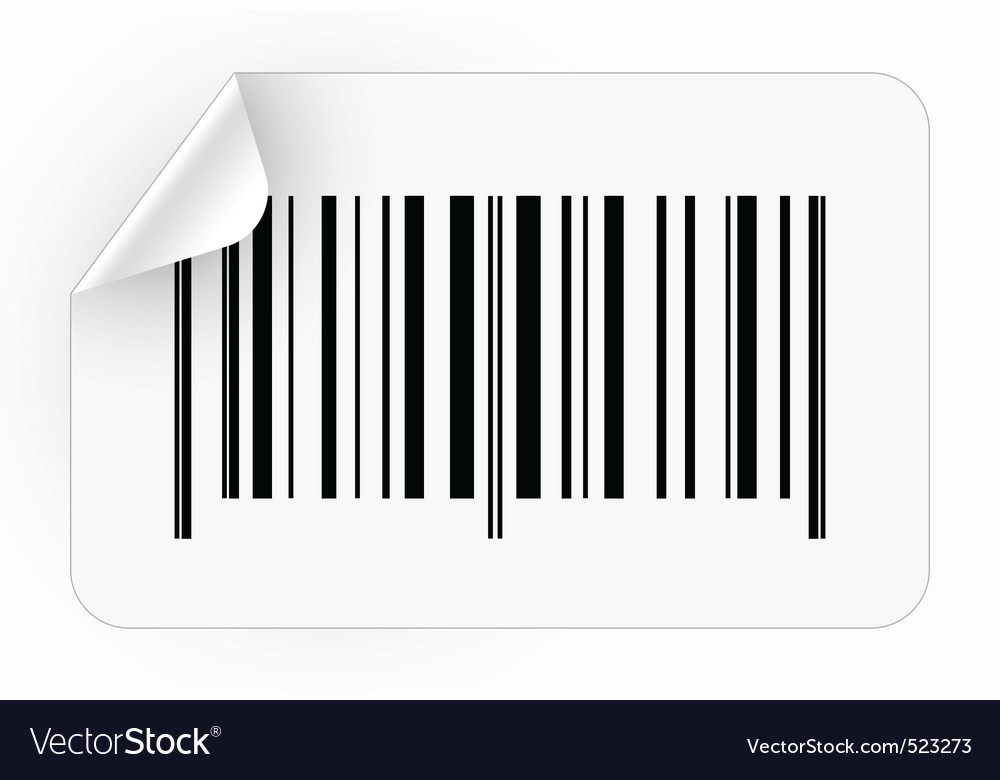 Sticker with bar code vector | Price: 1 Credit (USD $1)