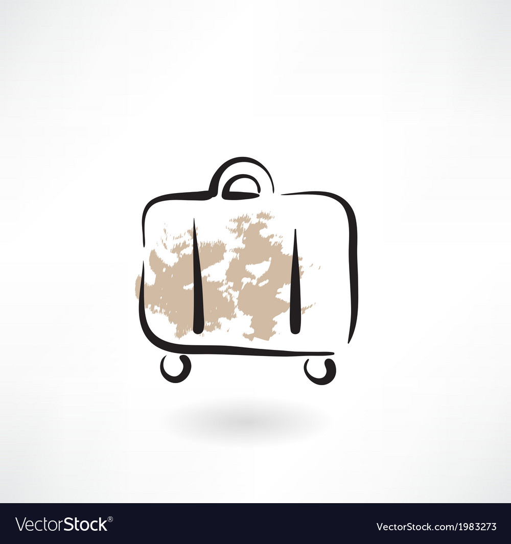 Suitcase grunge icon vector | Price: 1 Credit (USD $1)