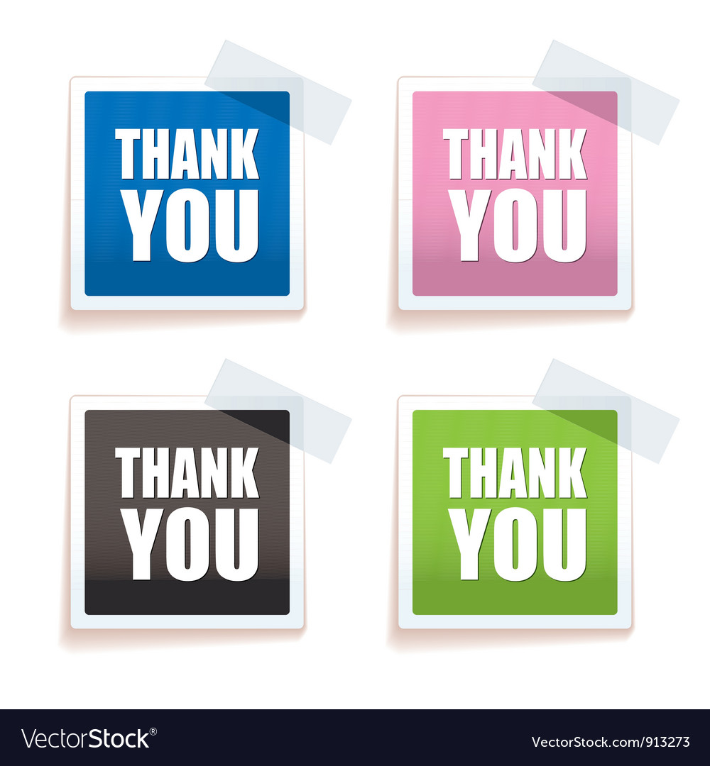 Thank you tag vector | Price: 1 Credit (USD $1)