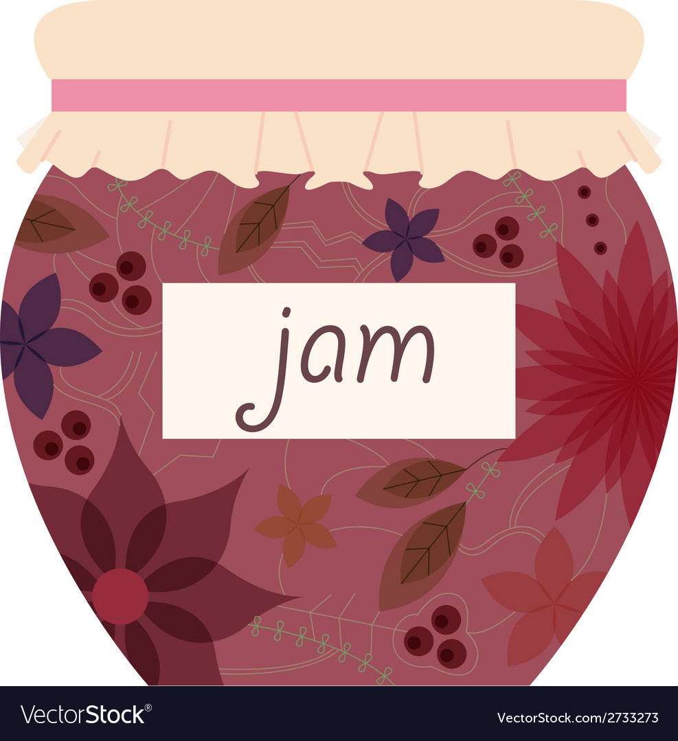 Vintage jam jar vector | Price: 1 Credit (USD $1)