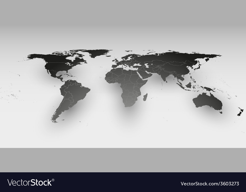 World map in perspective template for business vector | Price: 1 Credit (USD $1)