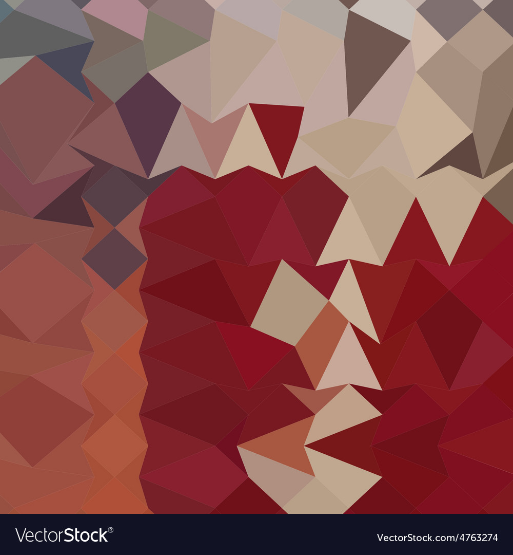 Antique ruby abstract low polygon background vector | Price: 1 Credit (USD $1)