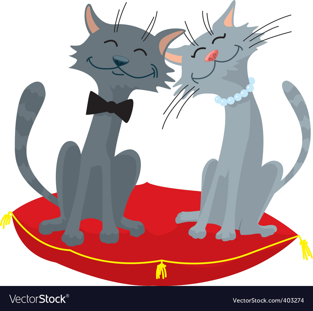 Cats wedding vector | Price: 1 Credit (USD $1)