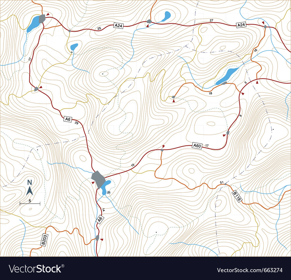 Contour roadmap vector | Price: 1 Credit (USD $1)