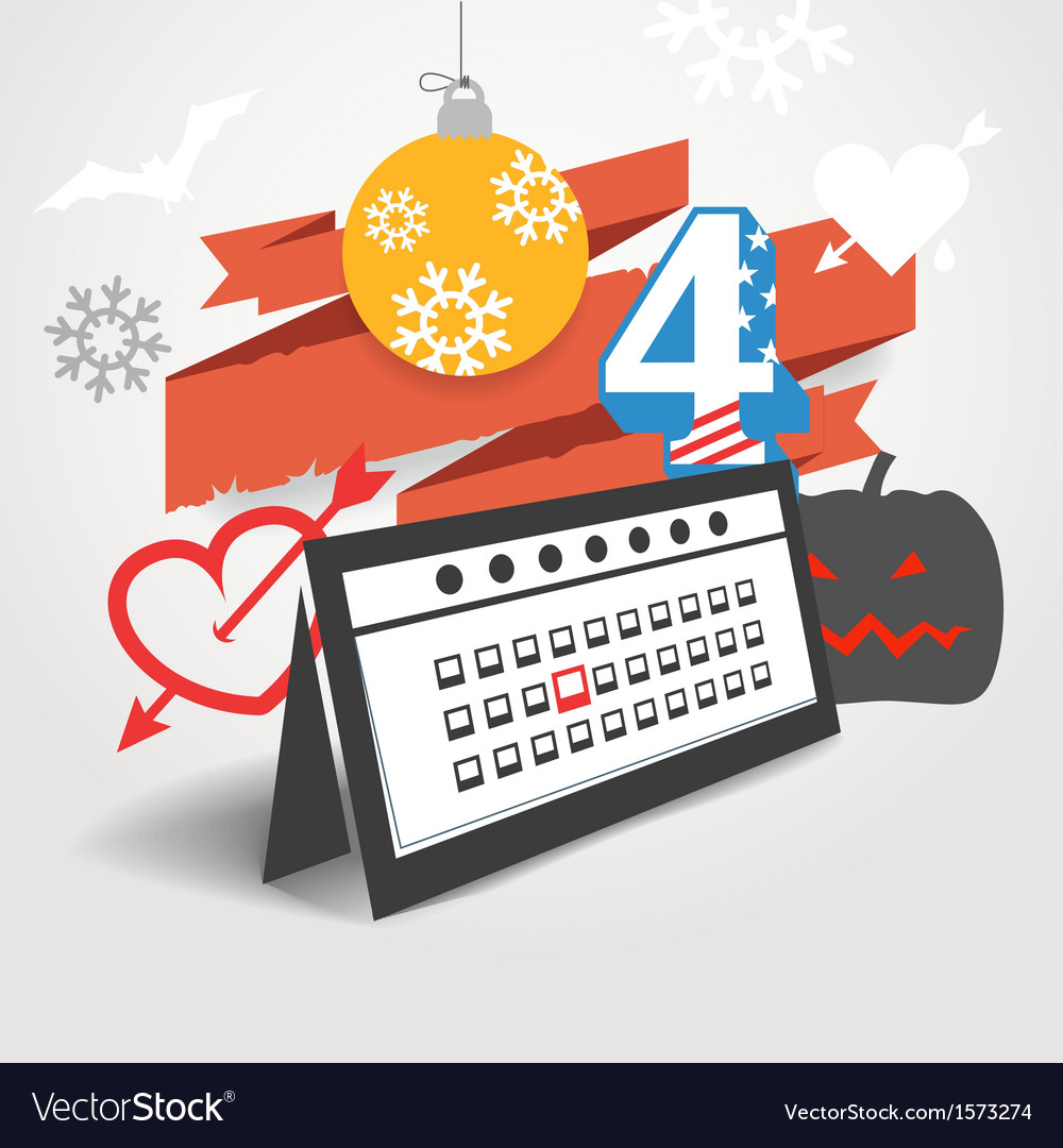 Different holidays of the year vector | Price: 1 Credit (USD $1)