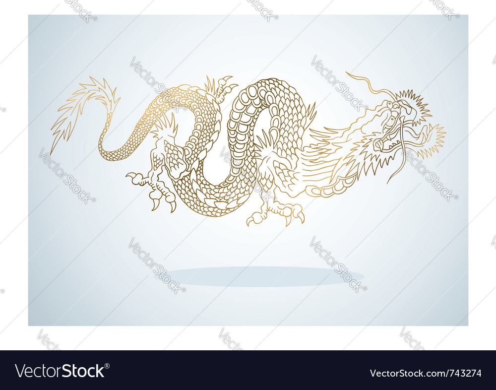 Golden dragon vector | Price: 1 Credit (USD $1)