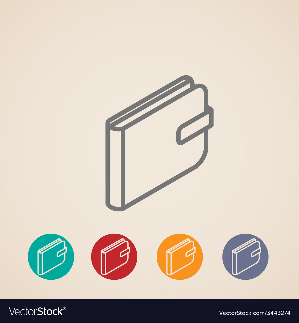 Isometric purse icons vector   Price: 1 Credit (USD $1)