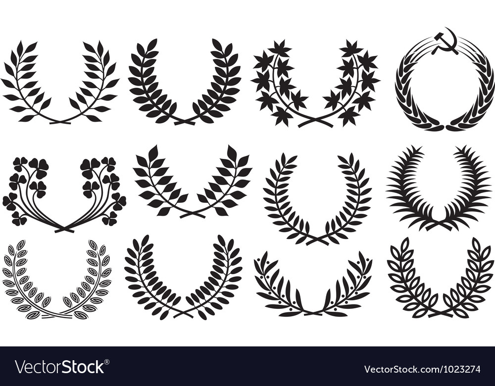 Laurel wreath collection vector | Price: 1 Credit (USD $1)