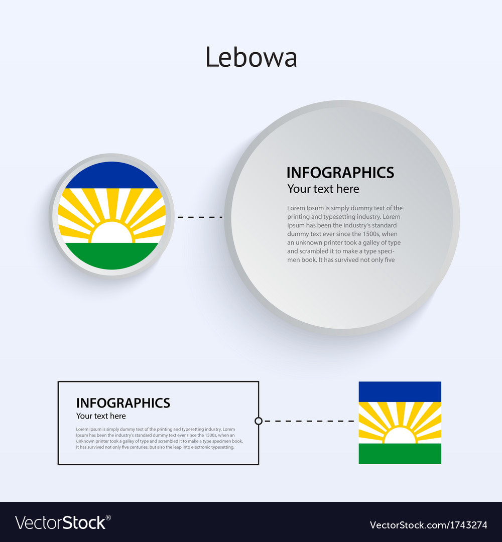 Lebowa country set of banners vector | Price: 1 Credit (USD $1)