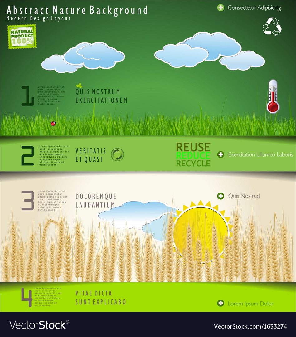 Modern nature design layout vector   Price: 1 Credit (USD $1)