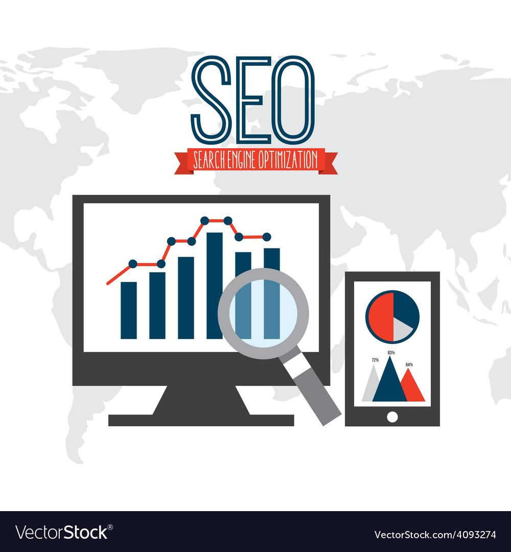 Search engine optimization vector | Price: 1 Credit (USD $1)