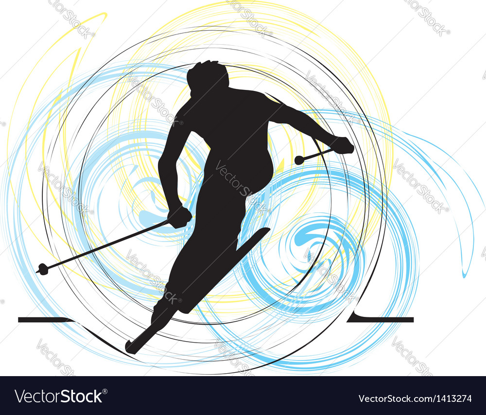 Skiing vector | Price: 1 Credit (USD $1)