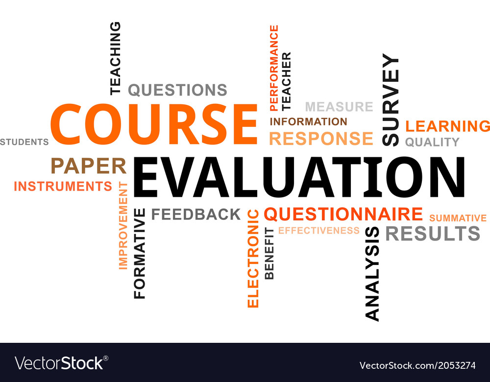 Word cloud course evaluation vector | Price: 1 Credit (USD $1)
