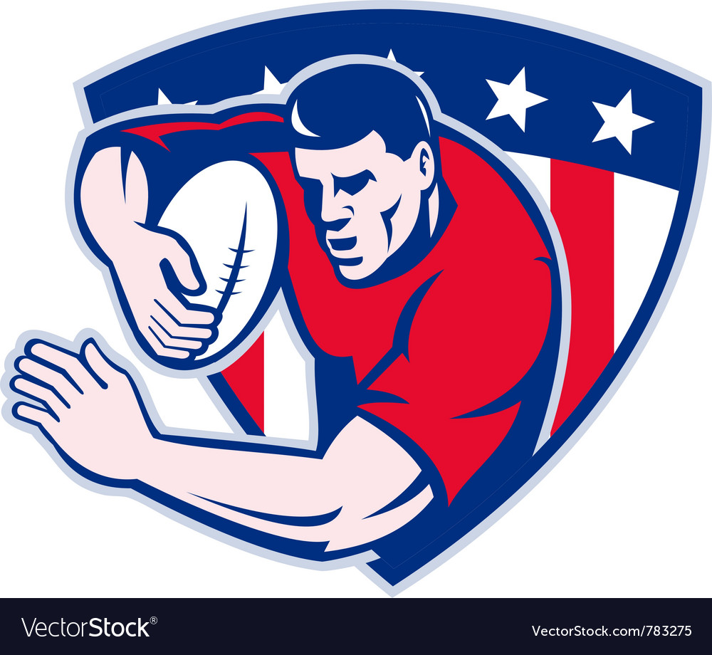 American rugby icon vector | Price: 1 Credit (USD $1)
