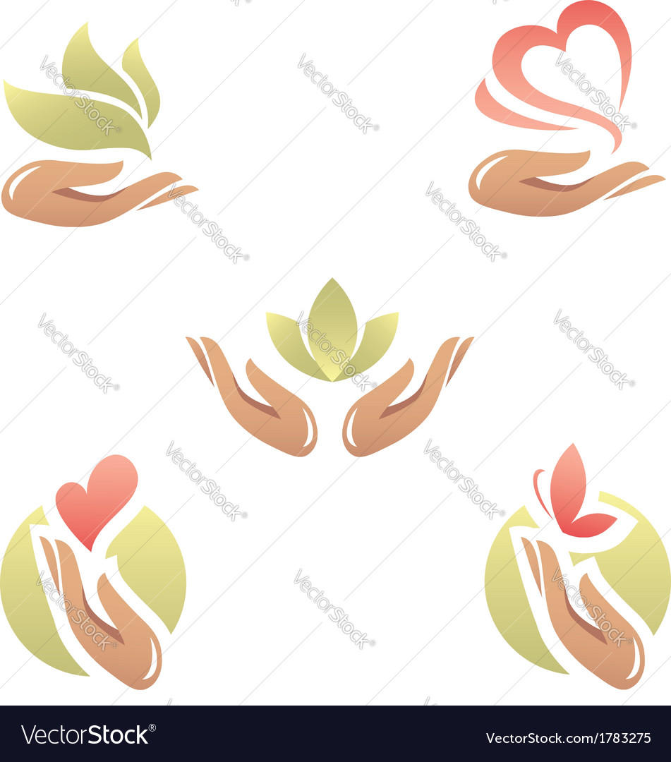 Beauty and health signs vector | Price: 1 Credit (USD $1)