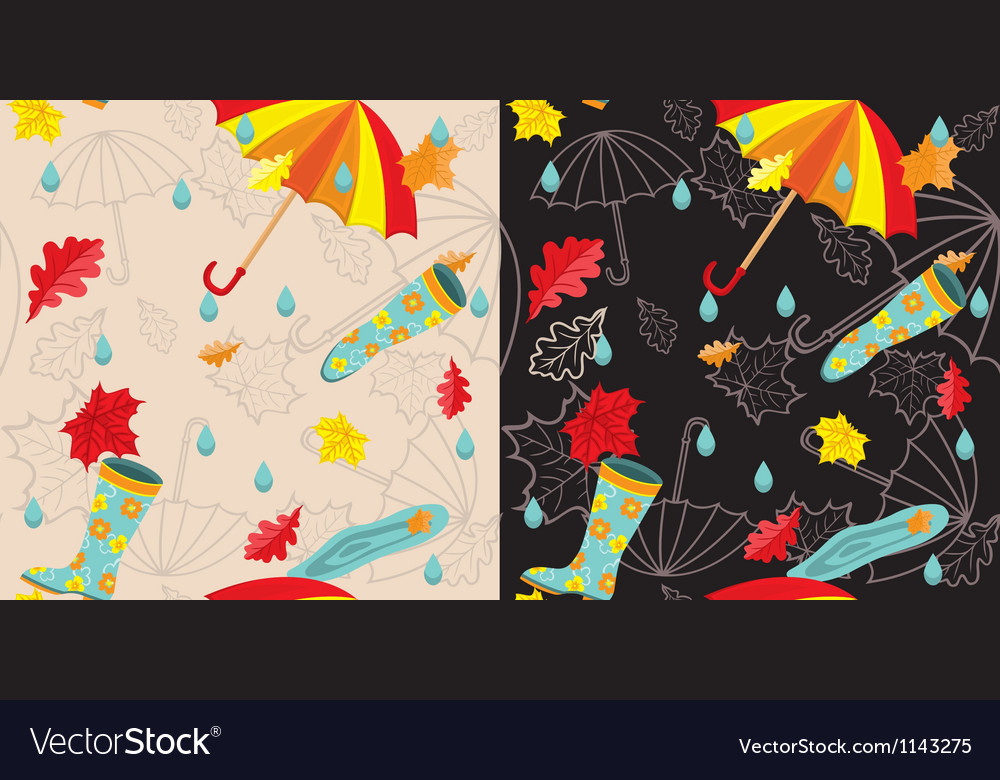 Bright autumn seamless vector | Price: 3 Credit (USD $3)
