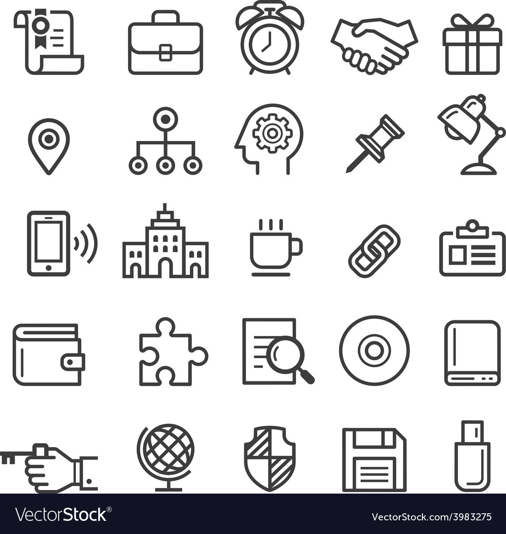 Business element icons vector | Price: 1 Credit (USD $1)
