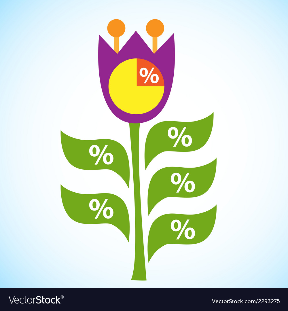 Infographic flow chart flower tulip vector | Price: 1 Credit (USD $1)