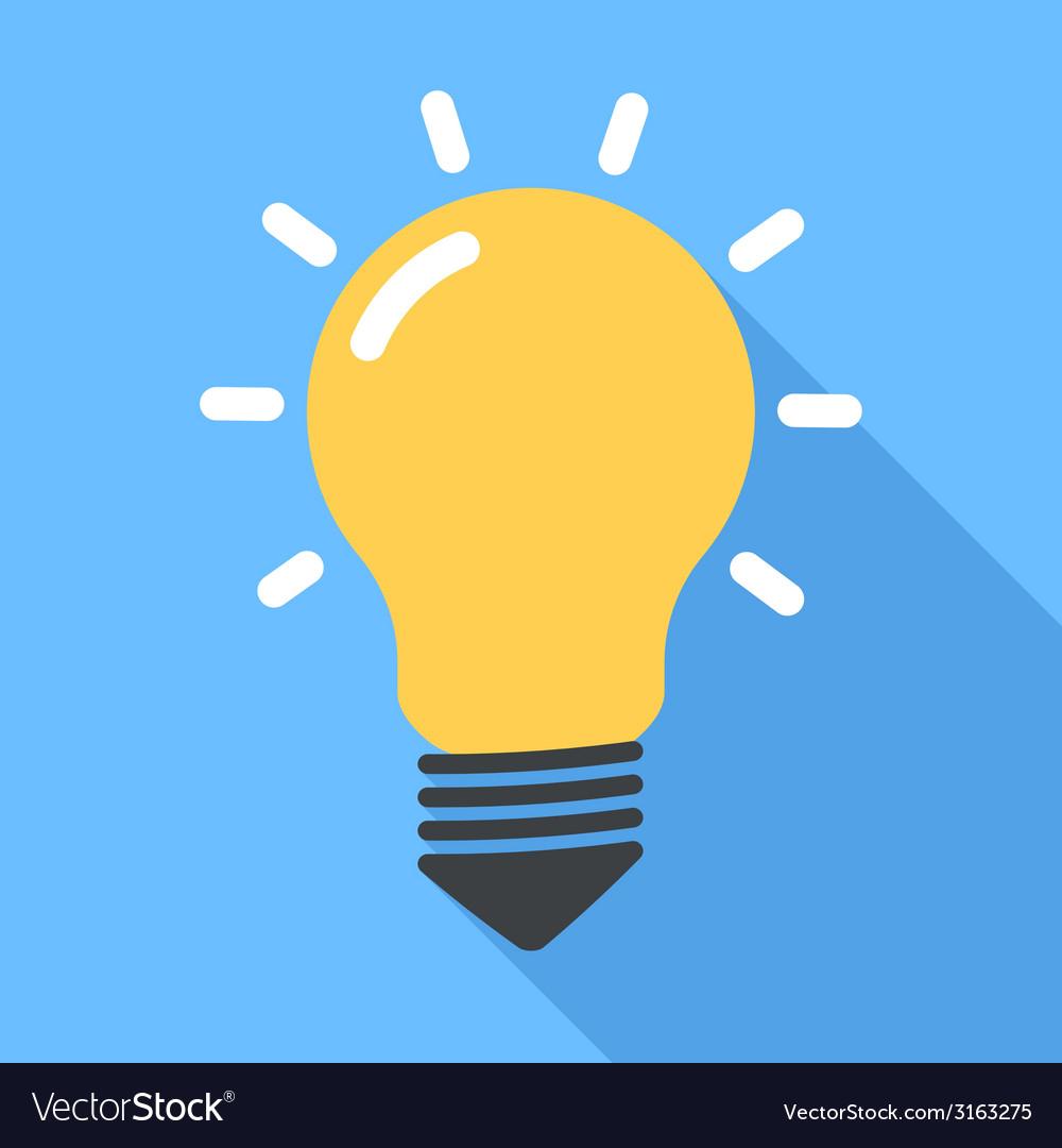 Lightbulb flat vector | Price: 1 Credit (USD $1)