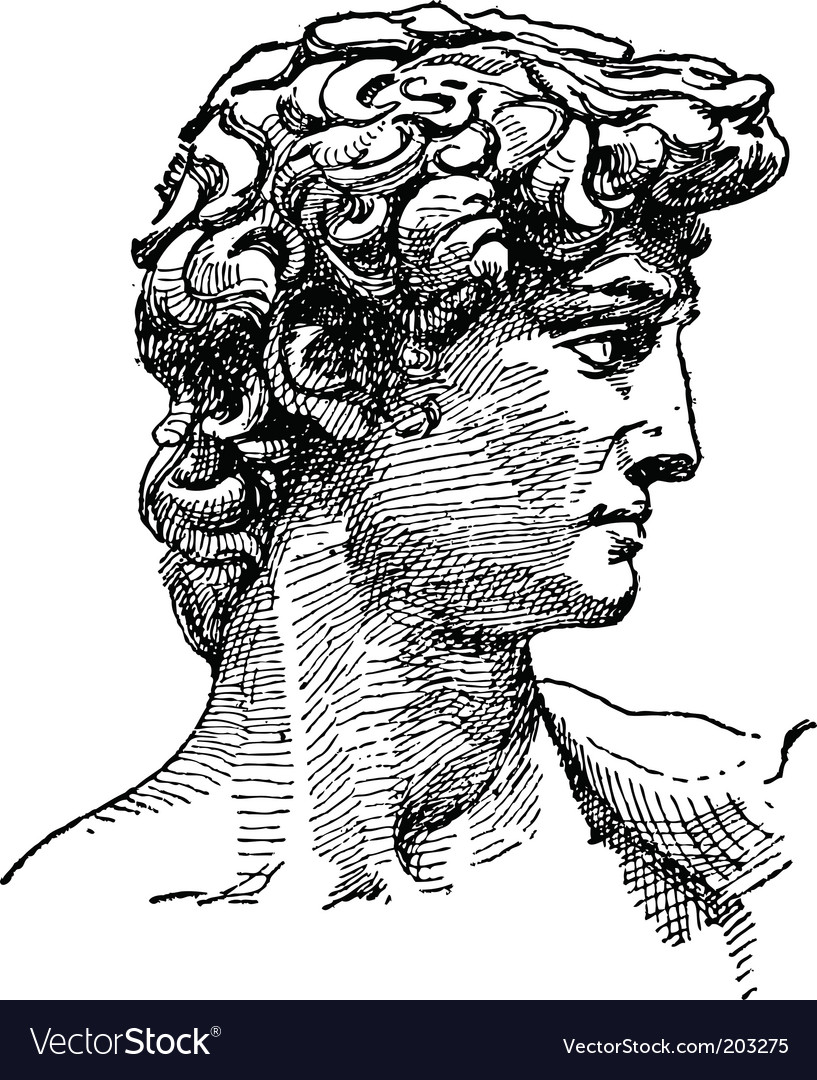Michelangelo david sketch vector   Price: 1 Credit (USD $1)