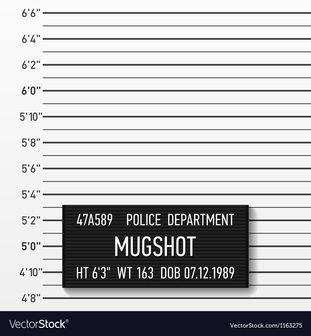 Police mugshot vector | Price: 1 Credit (USD $1)