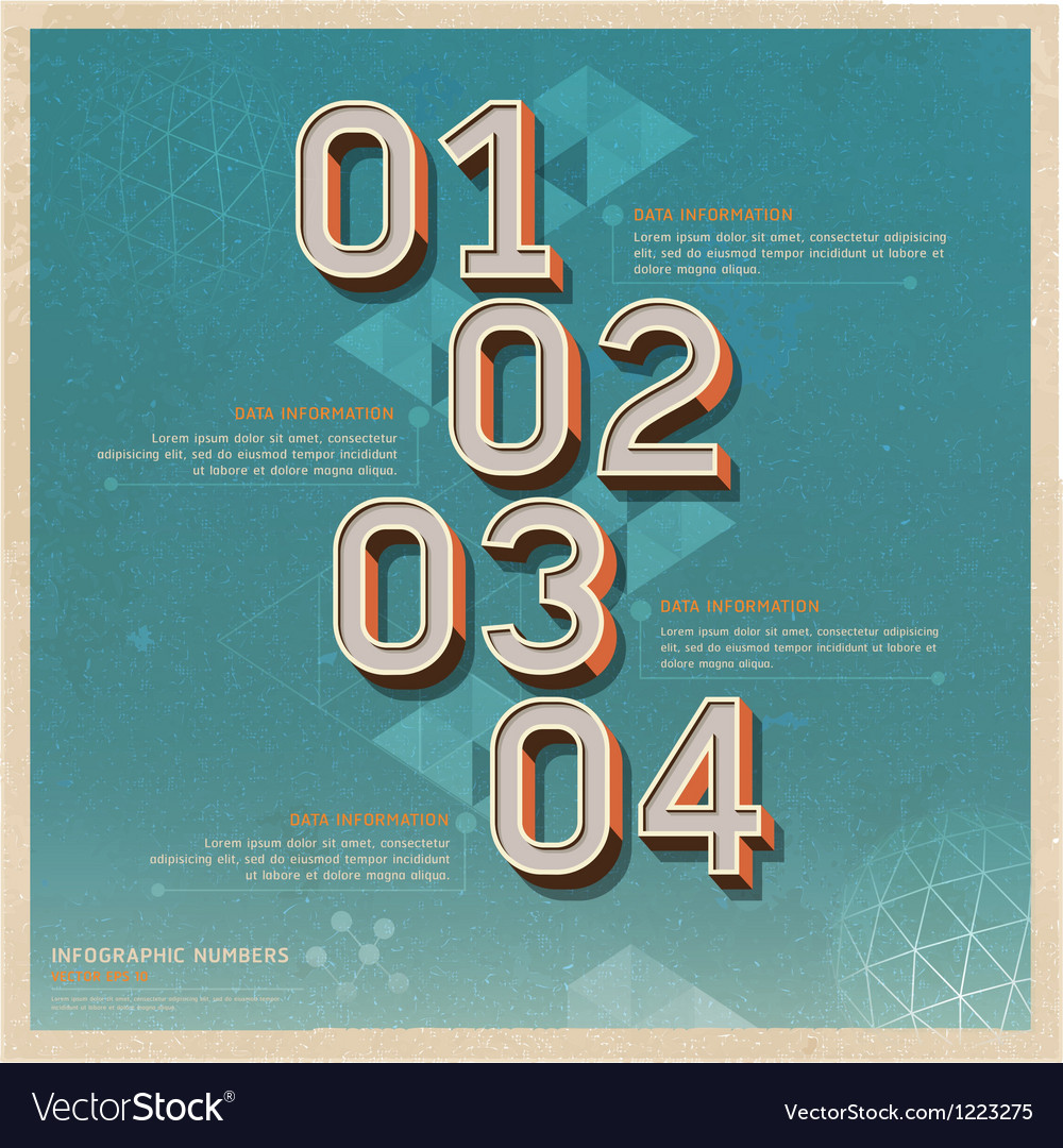 Retro color options number banner vector | Price: 3 Credit (USD $3)