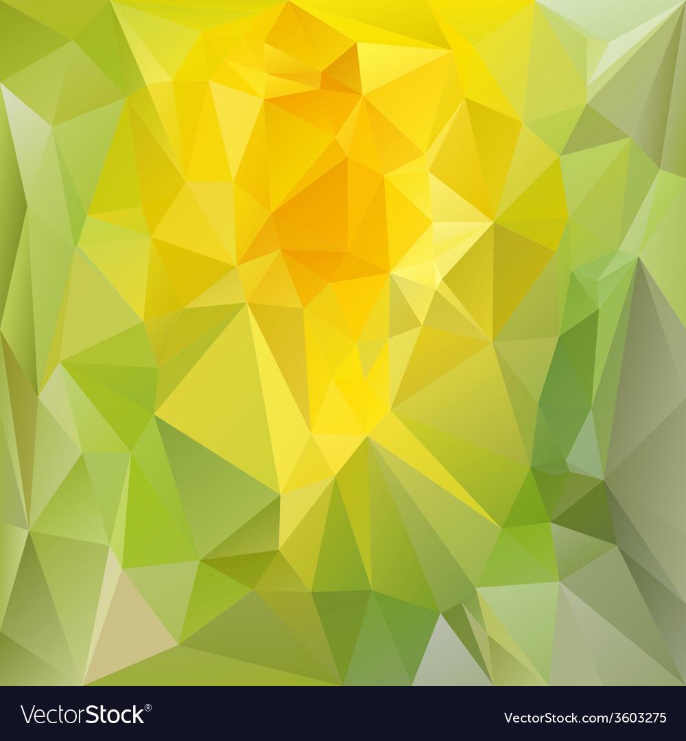 Spring green yellow polygonal triangular pattern vector | Price: 1 Credit (USD $1)