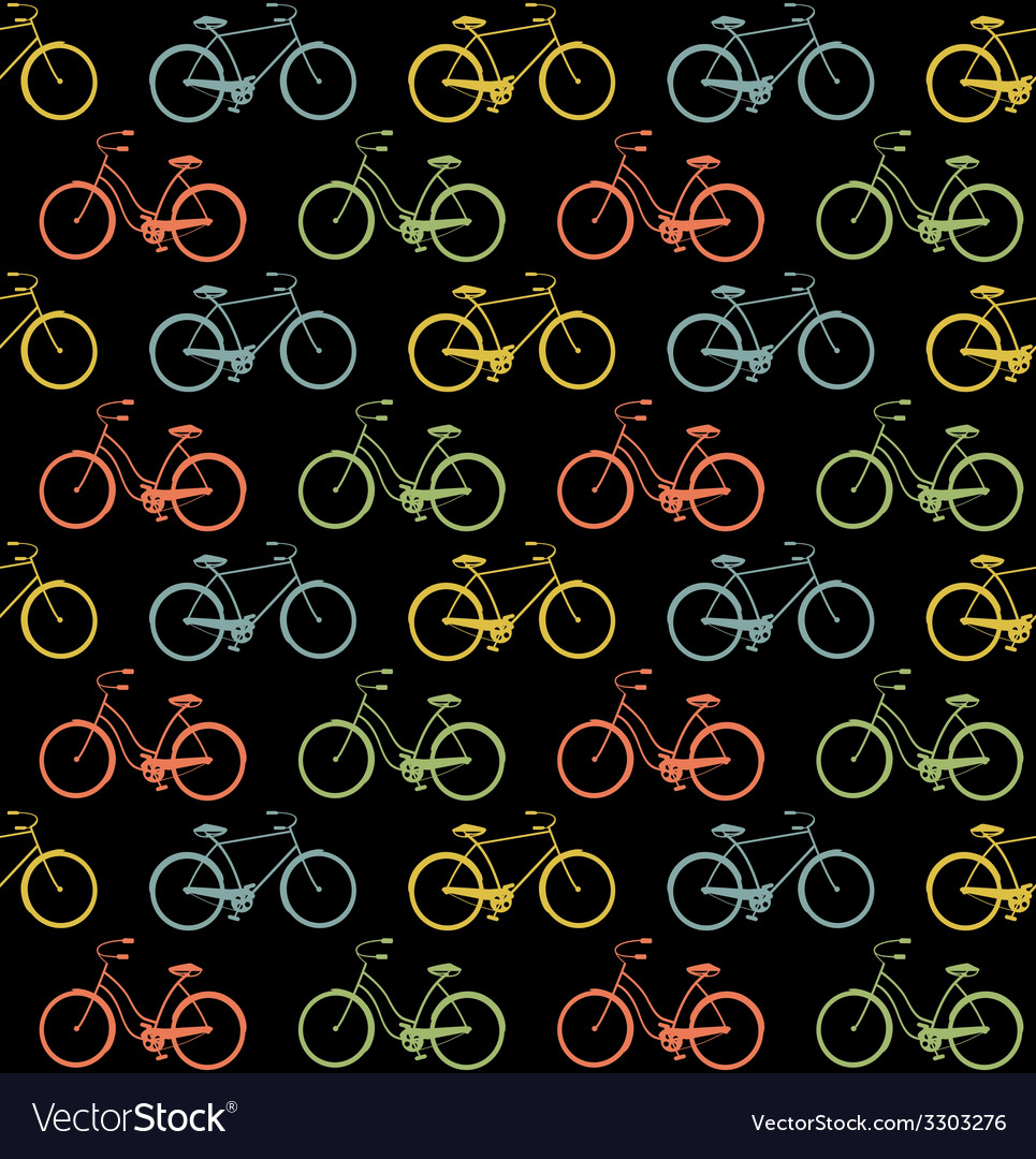 Bicycles seamless vector | Price: 1 Credit (USD $1)