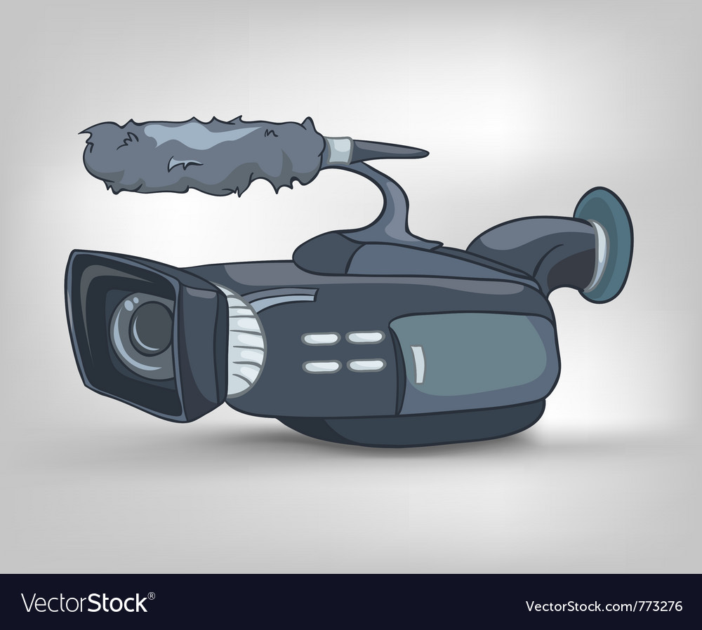 Cartoon video camera vector | Price: 1 Credit (USD $1)