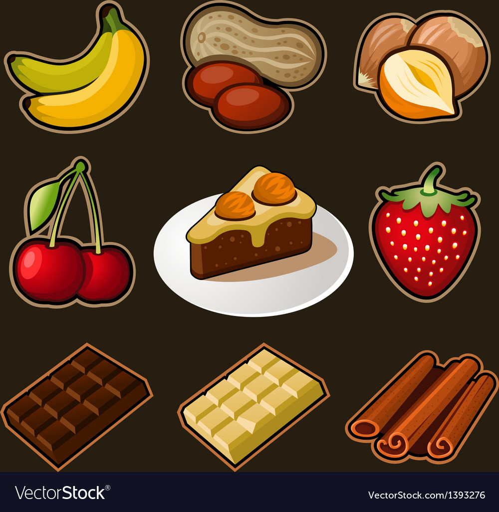 Chocolate icons set vector | Price: 3 Credit (USD $3)