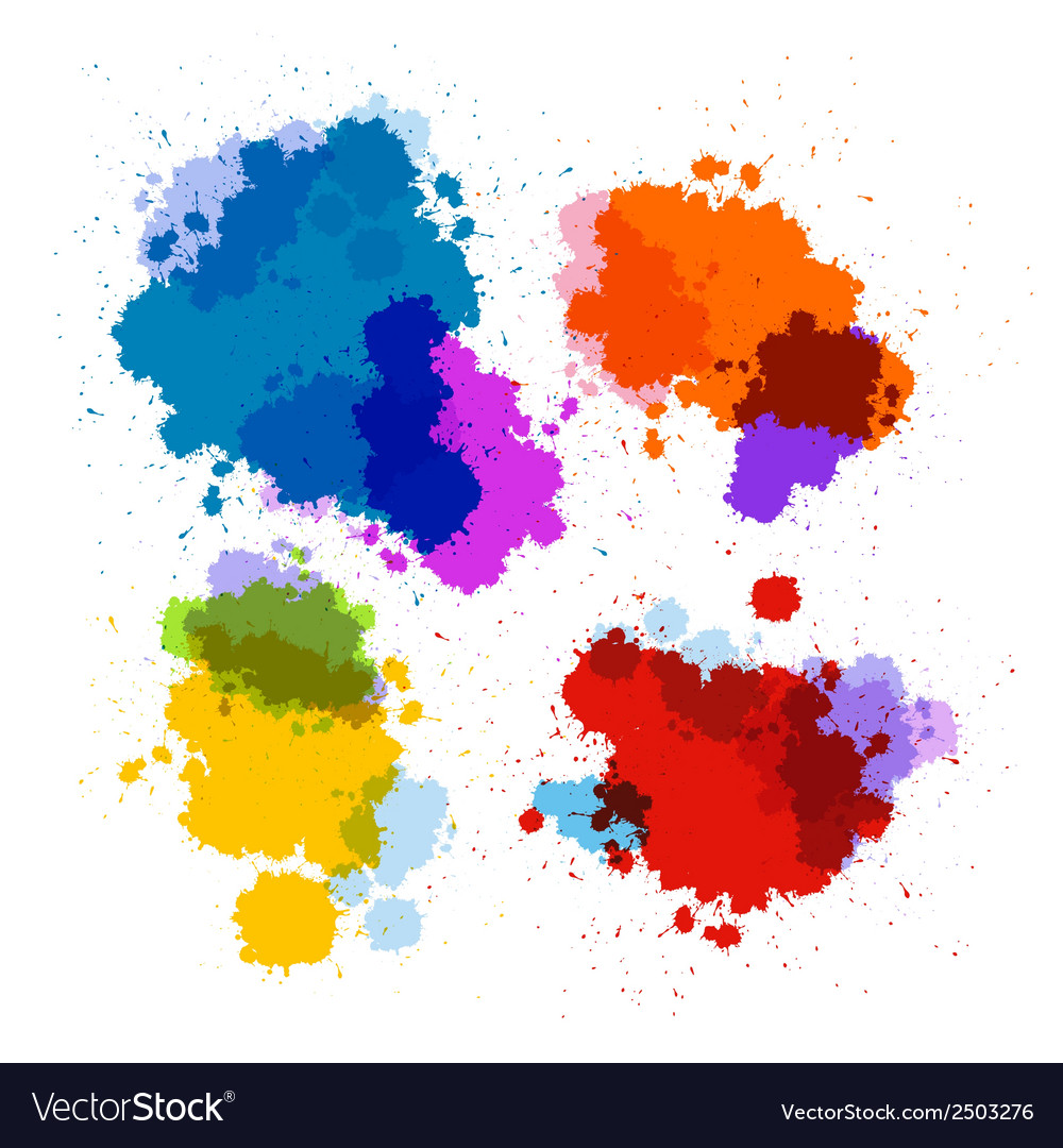 Colorful transparent stains blots splashes set vector | Price: 1 Credit (USD $1)