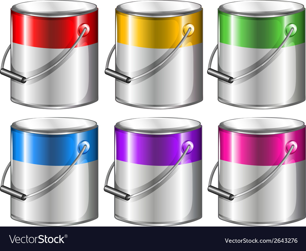 Containers with paint vector | Price: 1 Credit (USD $1)