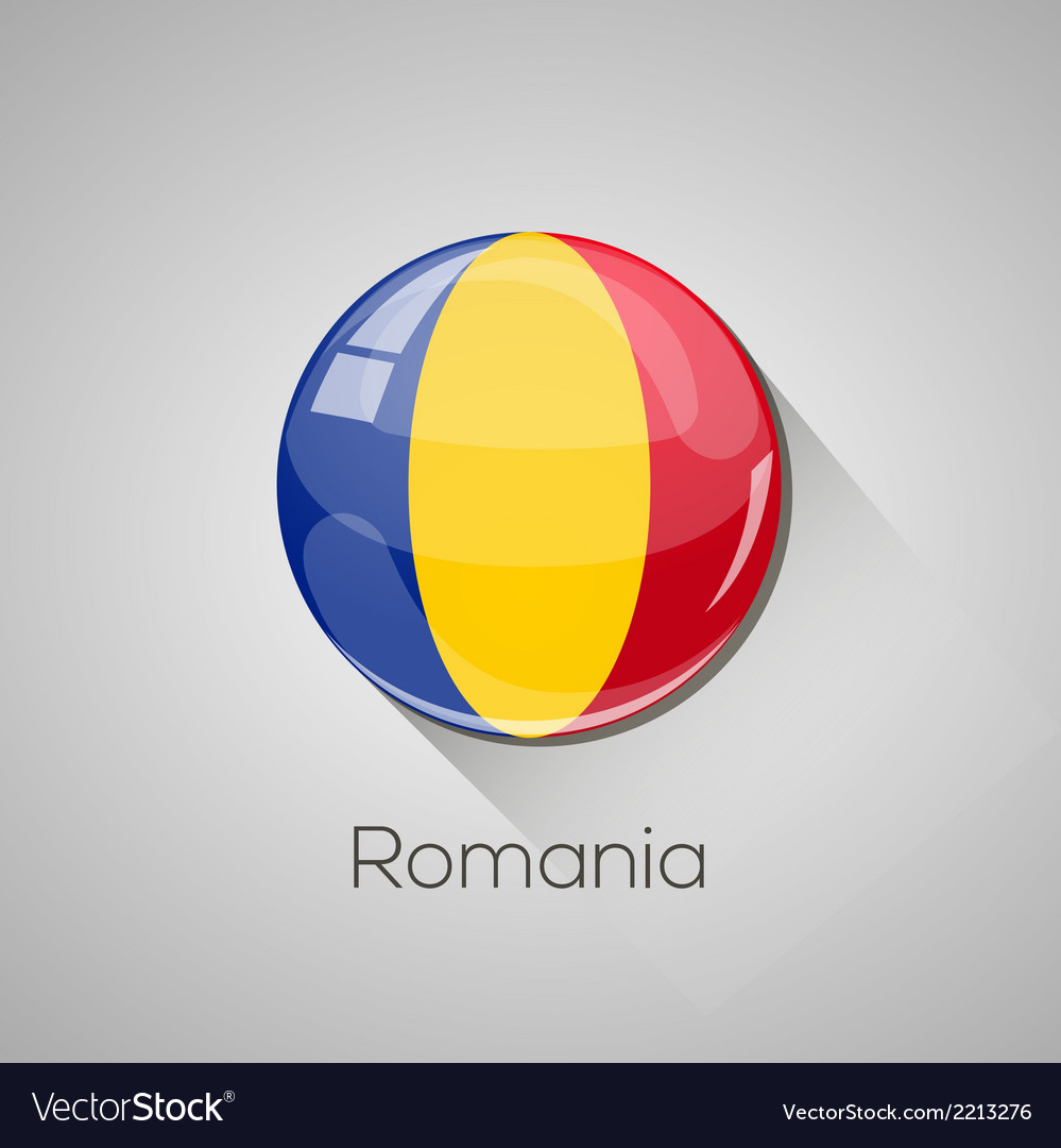 European flags set - romania vector | Price: 1 Credit (USD $1)