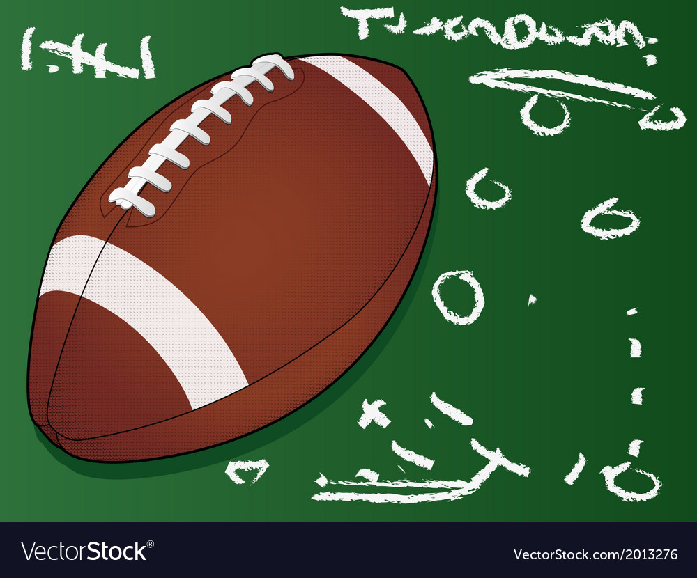 Football touchdown vector | Price: 1 Credit (USD $1)