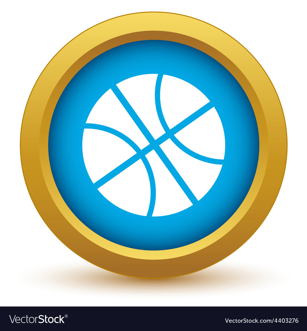 Gold basketball icon vector | Price: 1 Credit (USD $1)