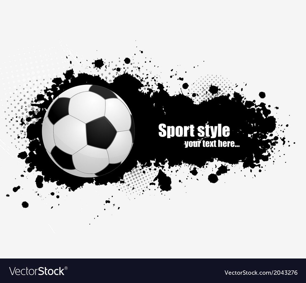 Grunge banner with soccer ball vector | Price: 1 Credit (USD $1)