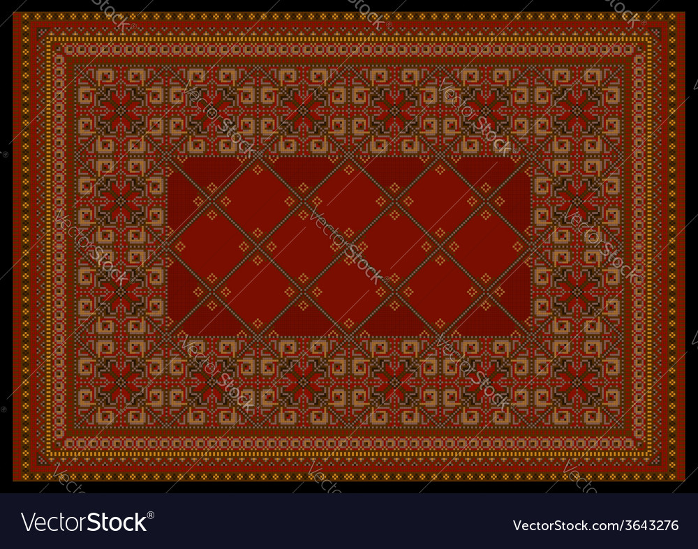 Luxurious in red shades classic carpet vector | Price: 1 Credit (USD $1)