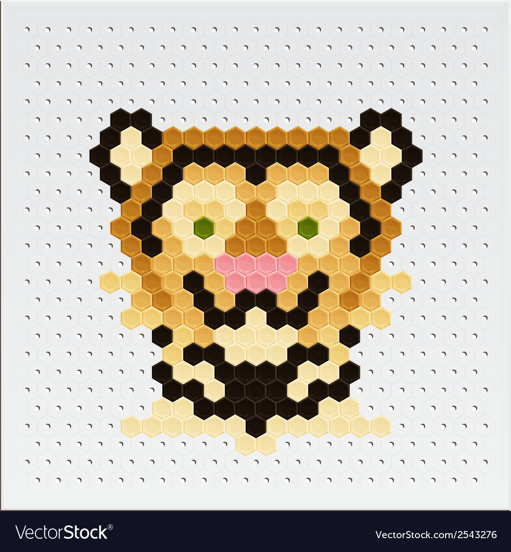 Mosaic tiger vector | Price: 1 Credit (USD $1)