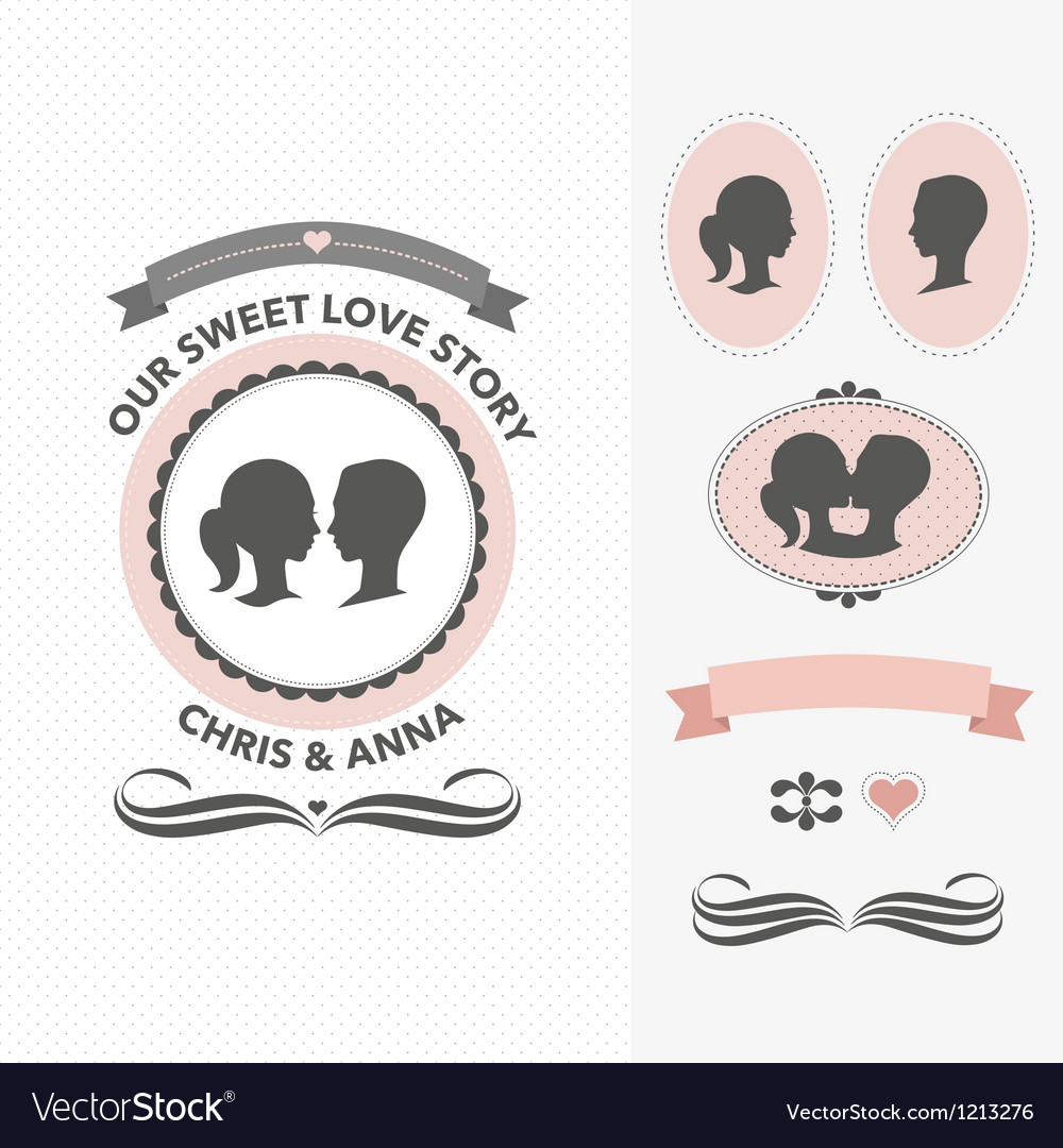 Our sweet love story vector | Price: 3 Credit (USD $3)