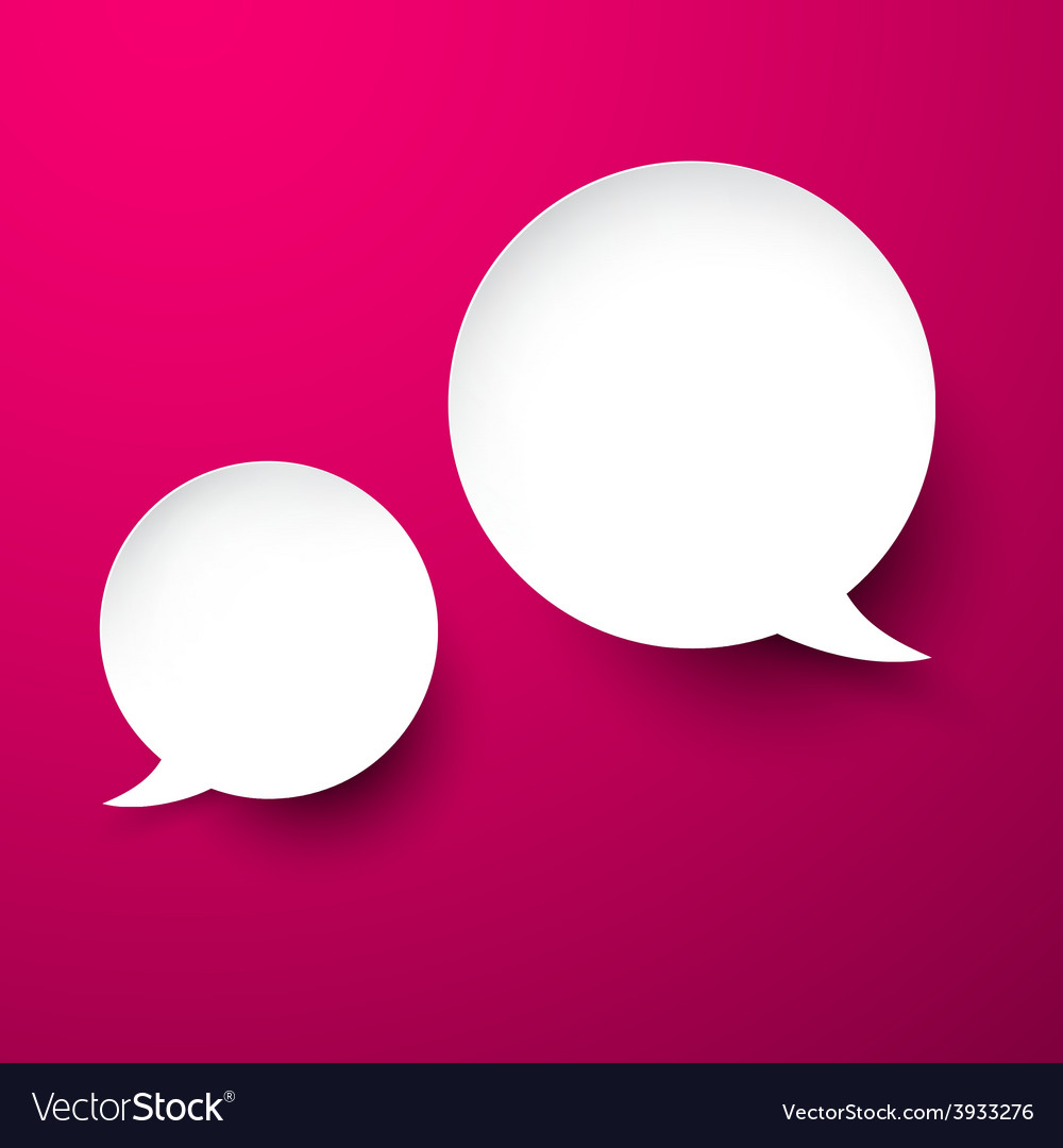 Paper white speech bubbles vector | Price: 1 Credit (USD $1)