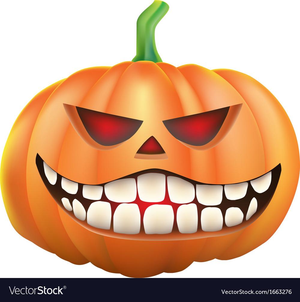 Pumpkin sneer on white background vector | Price: 1 Credit (USD $1)