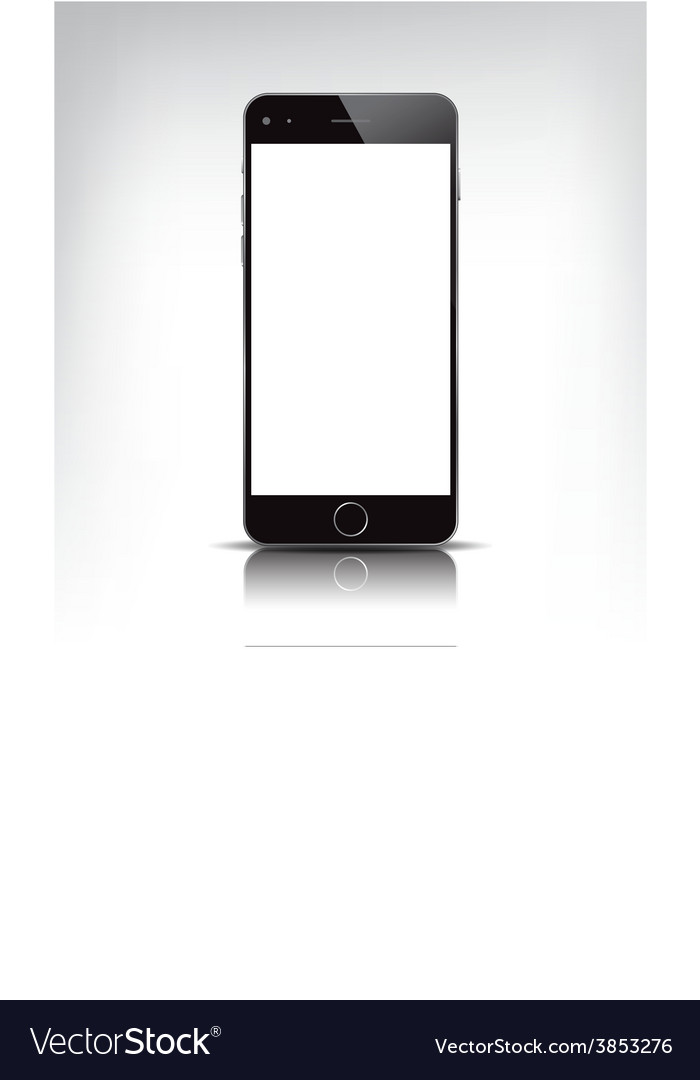 Realistic phone with empty screen vector | Price: 1 Credit (USD $1)