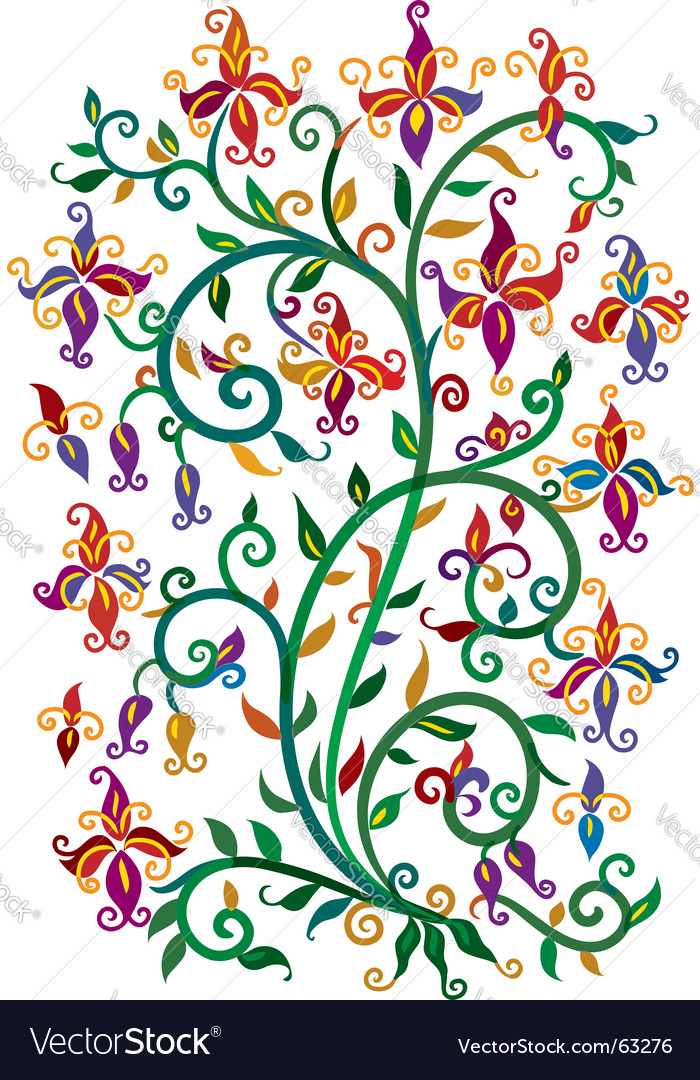 Renaissance floral vector | Price: 1 Credit (USD $1)