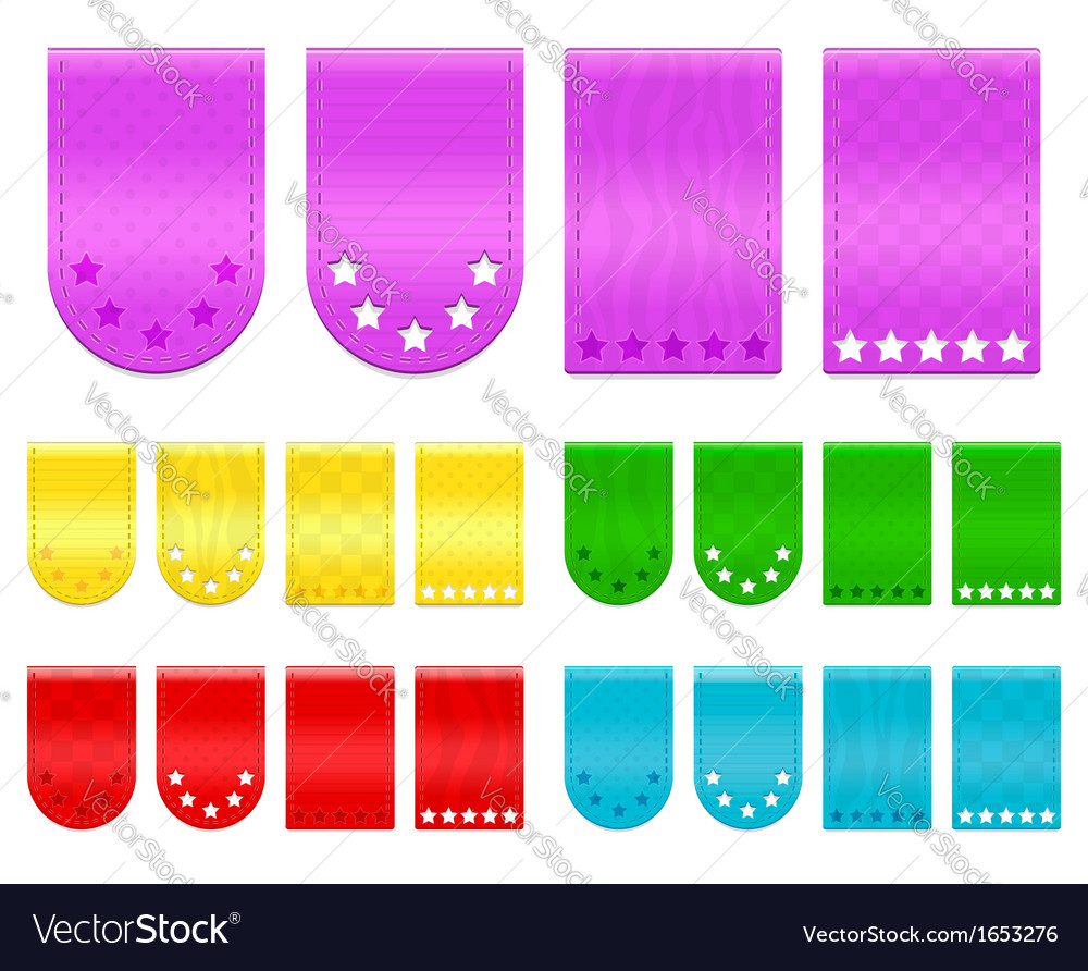 Ribbon tags vector | Price: 1 Credit (USD $1)