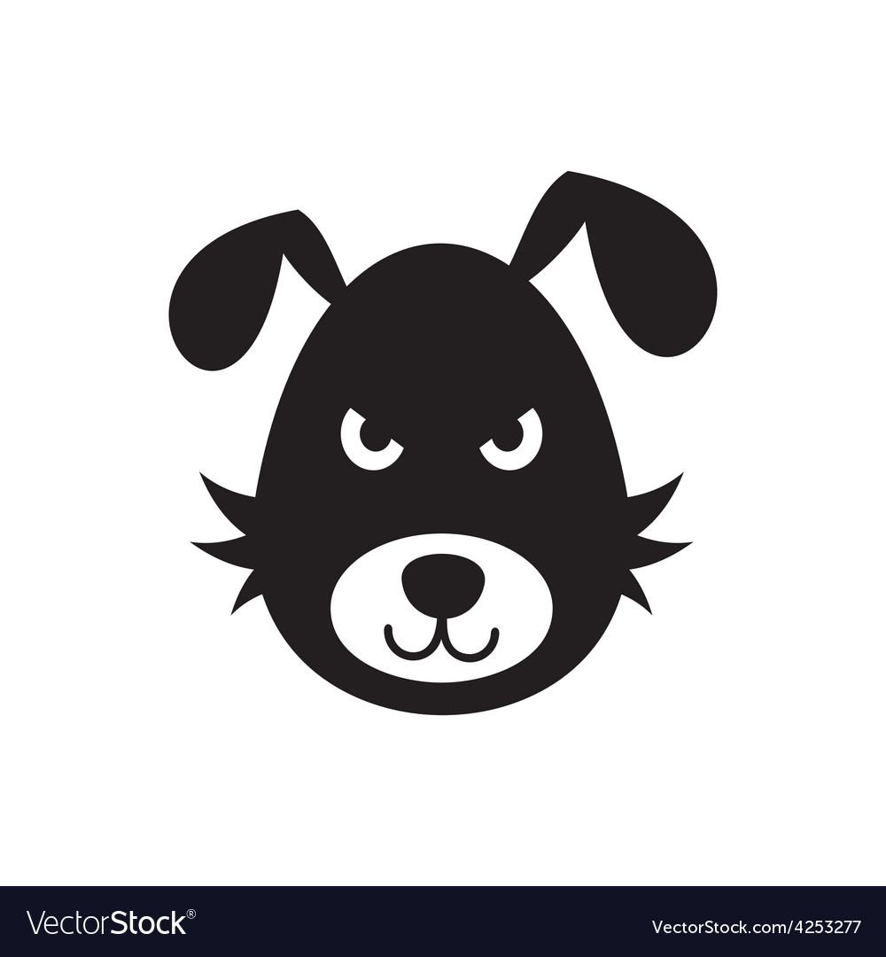 Bad dog icon vector | Price: 1 Credit (USD $1)