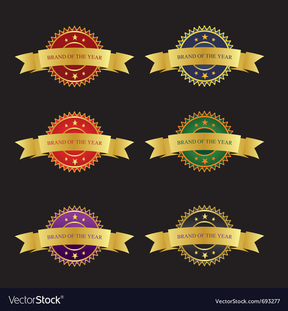 Badges colorful vector | Price: 1 Credit (USD $1)