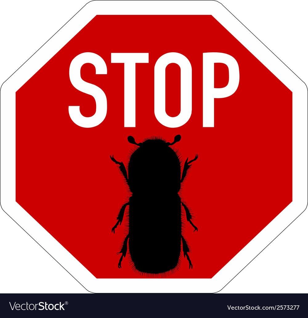 Bark-beetle stop sign vector | Price: 1 Credit (USD $1)