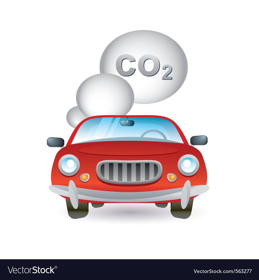 Car pollution icon vector | Price: 1 Credit (USD $1)